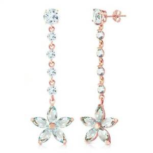 Aquamarine Earrings In 14K Rose Gold (4.80 ct. tw
