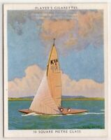 """""""Water Witch""""  30 Square Meter Class Racing Yacht Sailboat  1930s Ad Trade Card"""