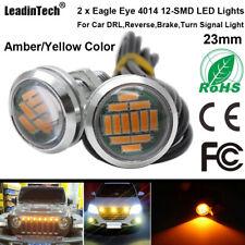 2x Eagle Eye LED Bulb 4014 12 SMD Yellow Amber Reverse Brake Turn Signal Lights