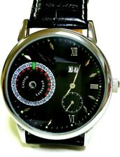 Las vegas casino roulette design self winding wrist watch 3 needle calendar