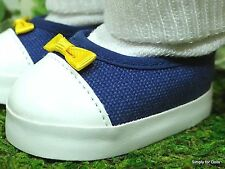 """BLUE Canvas Slip-On DOLL SNEAKERS Tennis SHOES fits 18"""" AMERICAN GIRL DOLL"""