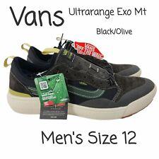 NEW Vans Ultrarange Exo Mt Black Olive VN0A4UUP2WK Skate Shoe Sneaker Mens 12