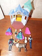RARE Disney Frozen Magiclip playset figure toy Flip 'N Switch Castle Anna Hans