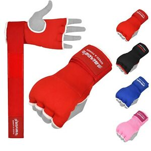 MMA Boxing Inner Gloves Padded Hand Wraps Bandages Protector MuayThai Kickboxing