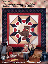Daydreamin Teddy Quilt Wall Hanging Full Size Temple Quilting Pattern Book NEW