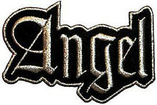 ANGEL Silver Glitter Logo Embroidered Iron On PATCH OFFICIAL MERCHANDISE