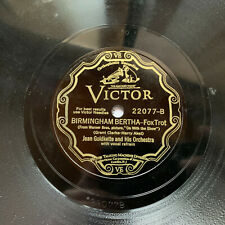 JEAN GOLDKETTE Birmingham Bertha/COON-SANDERS And Especially You VICTOR 22077