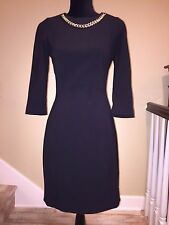 ***$$$6K LUXURY CHANEL BLACK EVENING COCKTAIL COUTURE GOLD CHAIN DRESS GOWN ***