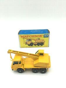 Matchbox 63c Dodge Crane Truck in Original F Type Box By Bowaters