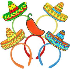 6 PCs Cinco De Mayo Fiesta Sombrero Headbands Party Hat for Men  Women, Fiesta