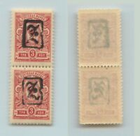 Armenia 1919 SC 32a mint black Type A vertical pair . rta2030
