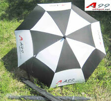 "A99 Golf Umbrella Double Canopy Wind-proof White/Black 58"""