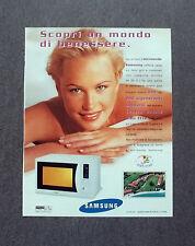 [GCG] K187- Advertising Pubblicità -1999- SAMSUNG FORNO A MICROONDE
