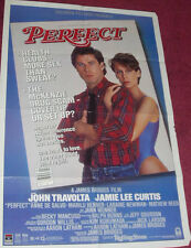 Cinema Poster: PERFECT 1985 (One Sheet) Jamie Lee Curtis John Travolta