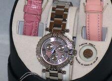 New Authentic womens joe rodeo pink  Marina JMA3 0.96ct.aprx.real diamond watch