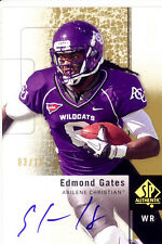 edmond gates rookie rc draft auto autograph abilene christian acu college spa 15