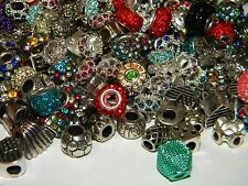 NEW 30/pcs Large Hole Fancy spacer charm European Beads LOT(Spc)