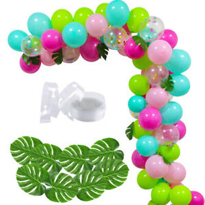 Hawaiian Tiki Garden Party Balloon Arch Decoration Kit - Includes 70 Balloons