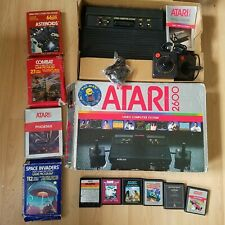 Atari 2600 4 Switch Vader PAL Console Boxed & Insert Joysticks & 10 Games Tested