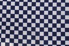 30cm Square Black & White Check Italian Silk Material Dolls House Accessory ZB