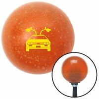 American Shifter 53771 Clear Shift Knob with Flames and Metal Flakes
