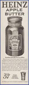 Vintage 1920 HEINZ Apple Butter Kitchen Décor 20's Print Ad