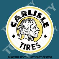 VINTAGE CARLISLE TIRES Decal Sticker Vintage Retro Mancave Hot Rod Stickers