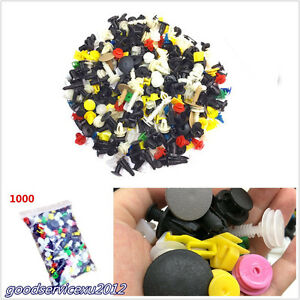 1000 X Plastic Mixed Assortment Car Bumper Clips Rivets Door Panel Fender Liner