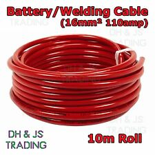 10m Red Battery Welding Cable 16mm² 110a - Flexible Marine Boat Automotive Wire