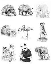 Malen mit Bleistiften  Kreativ-Set Hunde und Pferde  4 Bilder   Geschenkset