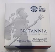2017 Britannia 1/4oz Platinum Proof £25 Twenty Five pounds Coin The Royal Mint