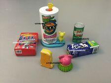 Megahouse dollhouse miniature kitchen paper towel rack brush sponge cleanser