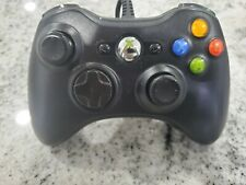 Official OEM Microsoft Xbox 360 Wired Black Controller USB Tested Works