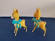 More details for pair plastic vintage babycham deer figures (5 inch 13cm)