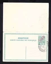 1915 Albania Stamps. Stationery Postcard 5 +5 QINT.  Genuine overprint.
