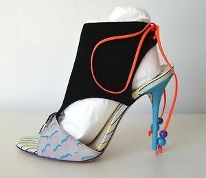 Sophia Webster Multi Print Black Suede Heel Bootie UK3.5/EU36.5 RRP £650