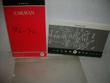 1992 Dodge Caravan Owner's Manual