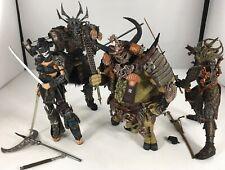 Lot Of 4 Spawn Samurai Wars Series 19 Action Figures Mcfarlane 2001 Dojo Lotus