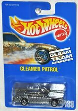 Hot Wheels 1991 Collector #189 Gleamer Patrol Blue Card Gleam Team Edition BW