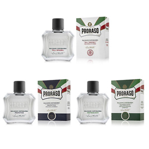 PRORASO Aftershave balm | Triple Pack | White, Green, Blue | 100ml bottles