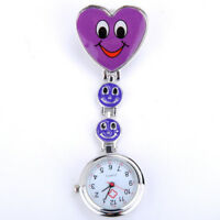 NURSE'S STAINLESS STEEL SMILE SMILEY FACE QUARTZ FOB POCKET WATCH CLAW NEW