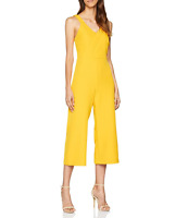 Coast Sylvia Yellow Plunge Culotte Crop Summer Party Jumpsuit Dress UK 8 to 16