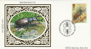 (53989) GB Benham FDC Insects Stag Beetle London SW 1985