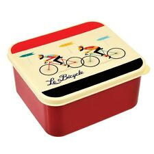 dotcomgiftshop LE BICYCLE LUNCH BOX WITH HANDY PUSH-ON LID