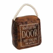 Novelty Faux Leather Door Stop Don't Let The Door Hit You Handle Funny Doorstop