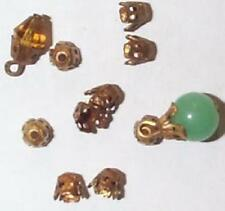 VINTAGE BEST EVER FILIGREE BRASS BEAD CAPS FINDINGS   28  PCS GREAT FOR REPAIR