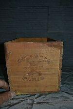 Ancienne caisse en bois pigments de peinture LE GAULOIS PARIS - SIENNE NATURELLE