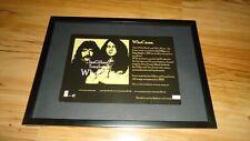 IAN GILLAN & TONY IOMMI-framed original press release promo advert