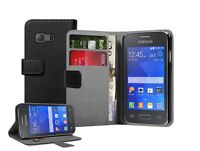 WALLET Leather Case Cover Pouch Saver for Samsung Galaxy Young 2 SM-G130HN