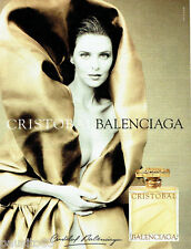 PUBLICITE ADVERTISING 026  1999  Balenciaga   parfum femme Cristobal
